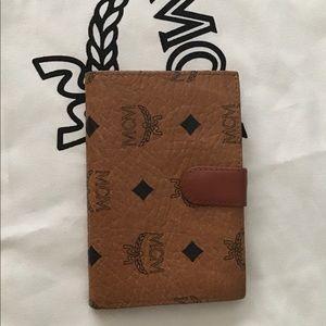 MCM bifold Cognac short wallet